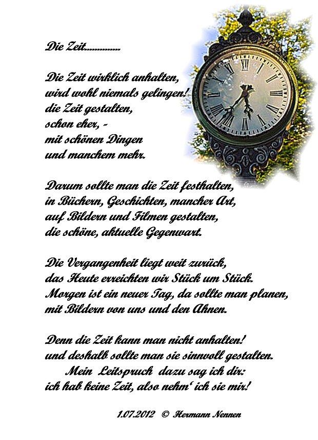 Die Zeit Ein Gedicht Seniorenemsdetten