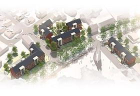 Interessantes Projekt in Emsdetten zu erschwinglichen Preisen: die Quartiersmitte St. Joseph (Quelle: verwohlt architekten BDA)