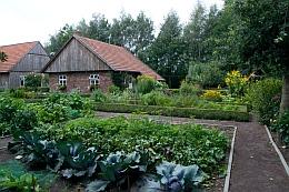 Der Nutzgarten des Siedlerhofes ernährte die ganze Familie