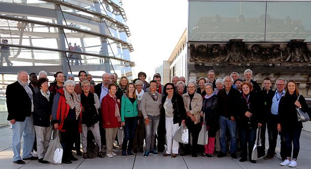 Die Teilnehmer an der Berlinreise waren rundum zufrieden mit dem Programm und dem guten Wetter
