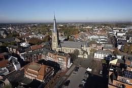 Die Innenstadt aus luftiger Höhe im November 2015. Schauen Sie sich das Kugelpanorama auf www.emsdetten.de an - es macht Spaß und lohnt sich.